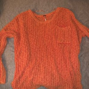 Free people coral sweater